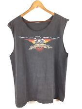 Harley-Davidson Cut-Off T-Shirt Vtg 1997 Eagle USA Flag Sleeveless Chandler AZ L