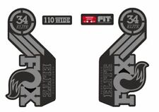 Fox Elite Fork / Suspension Factory Style Decal Kit Sticker Adhesive Set Gray