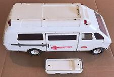 """Tonka Vintage 1970's Rescue Ambulance 19"""" Large Pressed Steel Emergency Van Toy"""