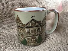 Otagiri Style Brown Victorian Painted Lady Queen Anne House Mug Coffee Cup