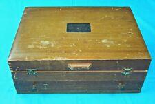Vintage Antique Old Wooden Empty Box Case Holder Collectable Knives Knife Set