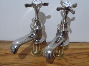 """HE Rudge & Co Ltd 1901 Quality Antique 3/4"""" Bath Taps Vintage"""