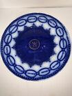 Vintage England Martha Washington CHAIN OF STATES Flow Blue PLATE, Advertising
