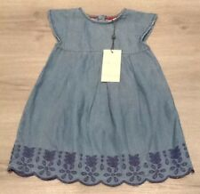Baby Girls Angel& Rocket Denim Dress With Tags Age 12-18 Months
