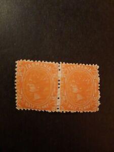 Tasmanien, alte Briefmarke, Mi.Nr. 46, postfrisch ** , Paar , selten