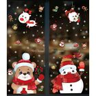 Christmas Wall Stickers Removable Xmas Glass Decals Clings Home Decorative Mural