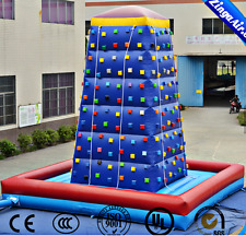32' Commercial Inflatable Rock Climbing Wall Obstacle Course Bounce House Slide