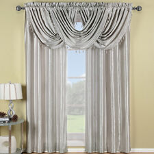 """Soho Faux Silk Window Treatment 42x96"""" Panel OR Waterfall Valaces 100% Polyester"""