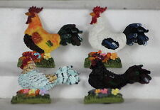 COCKEREL FRIDGE MAGNETS - FARMYARD FRIENDS - COLOURFUL, USEFUL GIFTS