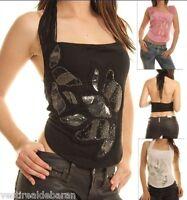 Top Canotta Donna T-Shirt Smanicata SEXY WOMAN Mod.T307-A918 Tg S M  **