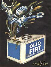 WERBUNG' 1925 OLIO AUTO FIAT WERKSTATT TANK TANK FUTURISMUS PLINIUS CODOGNATO