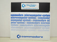 EASY FINANCE I  DISK ONLY COMMODORE 64/128 Tested Runs  NEW FACTORY SURPLUS ..#4