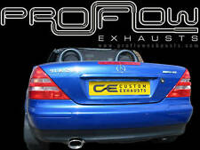 MERCEDES SLK STAINLESS STEEL CUSTOM BUILT EXHAUST SYSTEM SINGLE TAIL PIPE