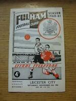 12/11/1960 Fulham v Leicester City  (Light Crease). No obvious faults, unless de
