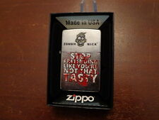 ZOMBIE STOP PRETENDING LIKE YOU'RE NOT THAT TASTY BLOODY ZIPPO LIGHTER MINT