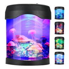 Aquarium Jellyfish Motion Lamp Led Fish Tank Desk Bedside Night Light Decor HG