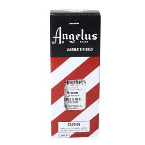 Angelus Fersen und Sohlen Lack braun 88 ml Ledersohle Lederpflege (9,03€/100ml)