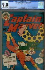 CAPTAIN MARVEL #34- CGC 9.0-SUPER HIGRADE GOLD-MR.MIND- WWII COMIC