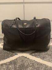 Authentic Coach Black Leather Duffle Bag