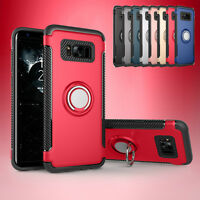 Magnet Cover For Samsung Galaxy S7 edge/S8/S8 Plus Shockproof Hybrid Stand Case