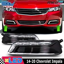 For 2014-2020 Chevy Impala DRL Lamps Clear PAIR Set OE Fitment With Wiring Kit