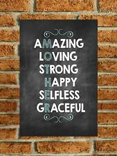 Metal Sign Mother Mum Mummy Mother Mam Mom Amazing Loving Happy Mothers Day Gift
