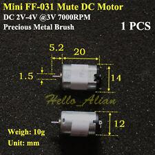 14mm DC 2V-4V 3V 7000RPM Micro FF-031 DC Motor Mini Mute 3 pole Motor DIY RC Toy