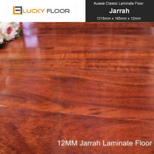 Laminate Flooring 12mm Jarrah  Floating Floor Timber Floorboard Floors DIY