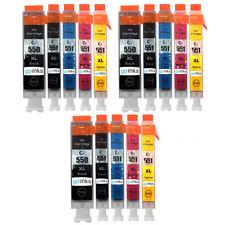 15 Cartuchos de Tinta (5 Set) para Canon Pixma iP7200 ix6850 MG5650 MG6650 MX725