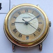 "Сharming Soviet RAKETA watch ""Golden Ring"" Gorgeous Gold $ Silver dial #84"