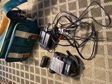 Canon Elura A Mini Dv Camcorder with cords, cables and case