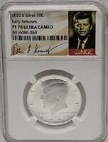 2020 S Proof Kennedy Half Dollar 50c NGC PF70 UC Early Releases Signature Label