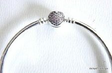 AUTHENTIC PANDORA BANGLE CIRCLE OF LOVE PINK PAVE 19/7.5IN #590716PCZ CLEARANCE