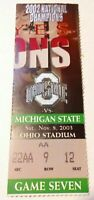 2003 Michigan State Spartans Ohio State Buckeyes Football Ticket Stub