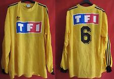 Camiseta usada Copa de Francia Amarillo No. 6 TF1 Partido Usado usado ex - XL
