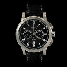Leroy 18K White Gold Marine Chronograph Gent's LL202-2. Black Dial