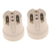 2x Heat Resistant Lamp Holder Socket Lighting for Light Bulb Down Light