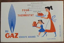 Ancien buvard Four à thermostat au Gaz d'après Fix Masseau
