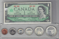 1967 Centennial Uncirculated Coin Set and $1 Banknote