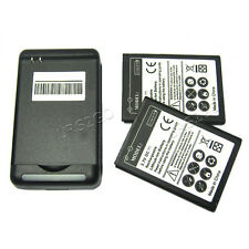 2x 3850mAh Battery Travel Charger for Samsung Galaxy Nexus Prime SGH-i9250 i9250