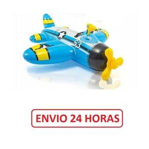 Avión hinchable con pistola de agua INTEX piscina 132x130 ENVIO 24 HORAS