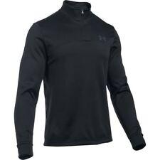 NWT Under Armour MENS Fleece 1/4 Zip Pullover 1299382-001 Black/Rhino Gray MED