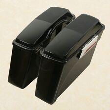 Hard Saddle bags w/speaker Lids For Harley Davidson Road King Glide Softail DYNA