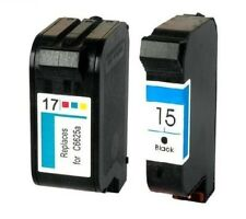 2 CARTUCHOS TINTA NEGRA C6615 HP15 COLOR C6625 HP17 COMPATIBLE DESKJET 840c 845c