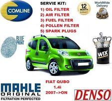 para Fiat Qubo 1.4 2007>En Adelante Filtro antipolen Aceite Aire COMBUSTIBLE +