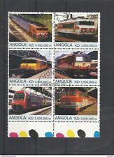 Angola wunderschöner Zusammendruck moderne Loks