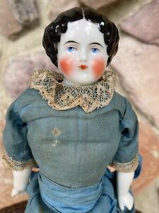 Antique 13 inch  German ?  China Head Doll Original Dress  Beautiful