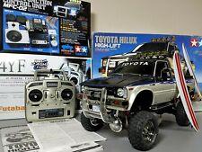 Tamiya 1/10 R/C Toyota Hilux High Lift Truck +Futaba 2.4GHz +MFC-02 Light Sound