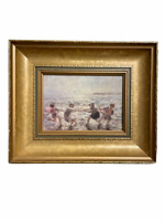 Printed on canva Robert Gemmell Hutchison (1855-1936) painting, framed