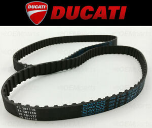 Set of (2) Camshaft SQUARE Timing Belts Ducati 400/600/750 (See Fitment Chart)